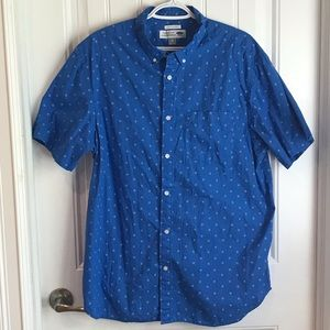 Old Navy The Classic Shirt blue floral XL